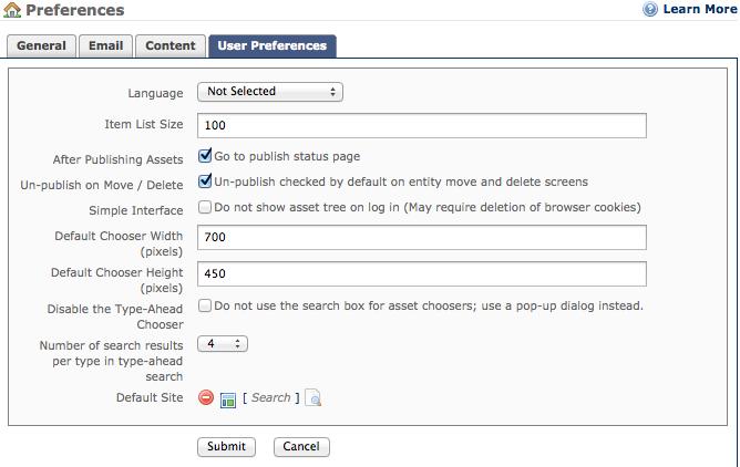 user-preferences