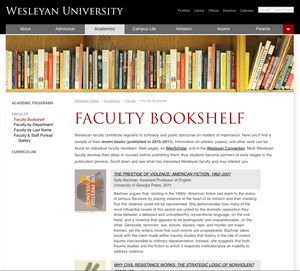 Faculty Bookshelf