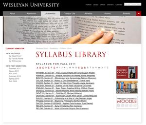 Syllabus Library