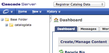 Registrar Catalog Data Folder Structure